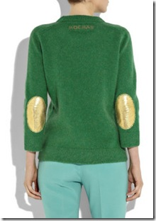 Rochas Fall 2010 Elbow Patch Wool Sweater