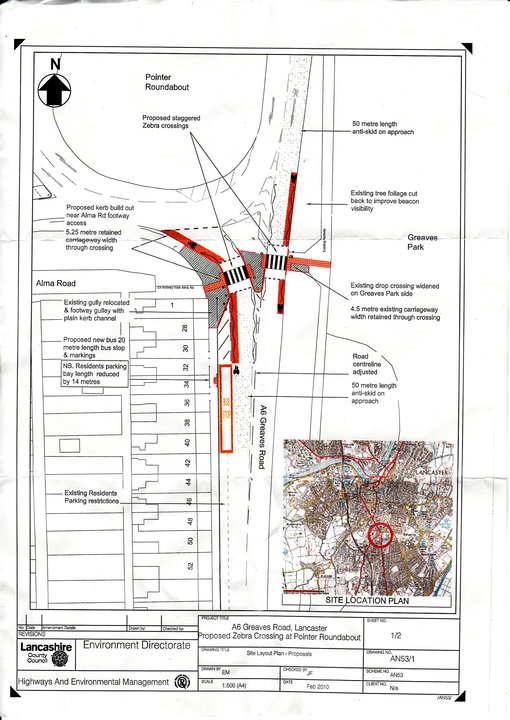 Pointer Roundabout Bus Stop Plan 2010