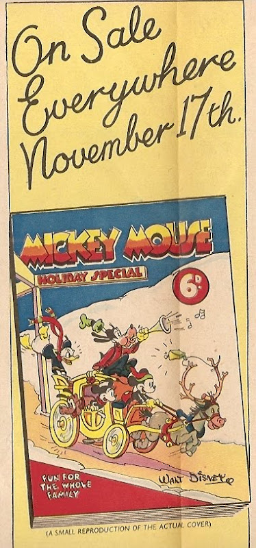 Mickey Mouse Special advertiesment, 1937