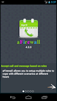 Screenshot of aFirewall call and sms blocker