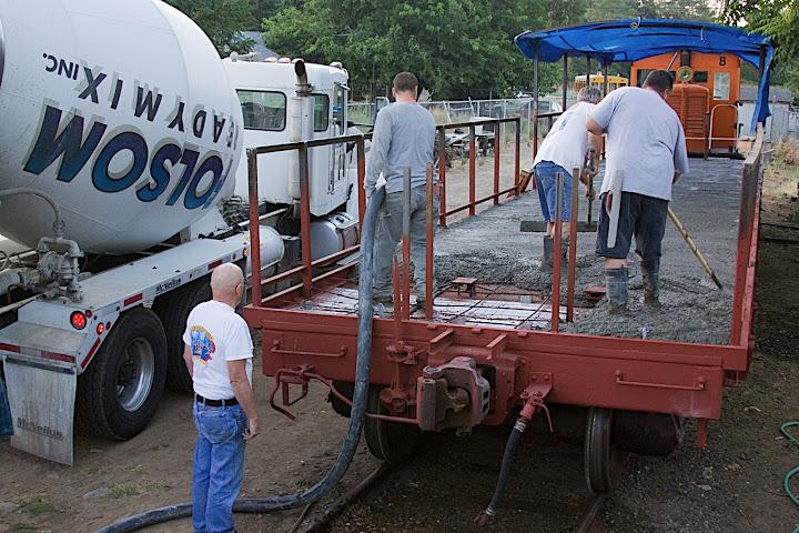 passenger car cement work