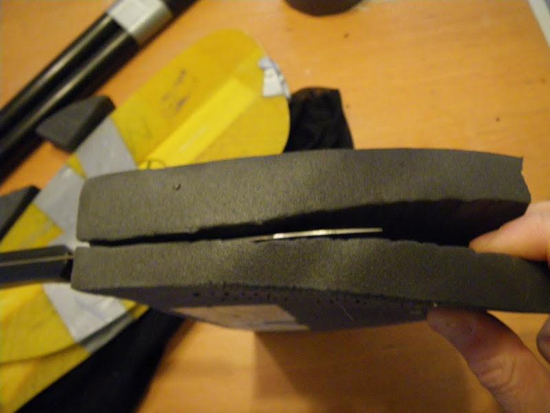 Cut some minicell foam so it's flat