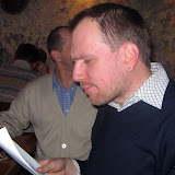 Константин Скоркин читает поздравительную телеграмму от Виктора Януковича