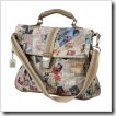 Stamps and Letters Fold Over Tote Bag