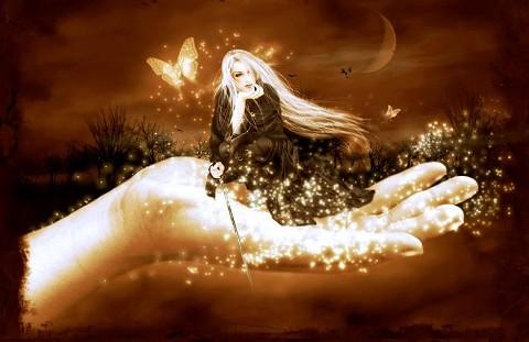 fantasia,fairy,fary,fada nas mãos,iluminada