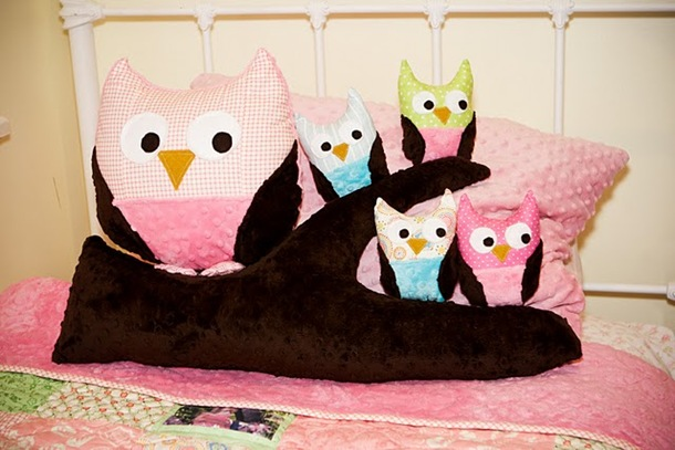 owl softies and branch