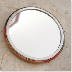 handpainted pocket mirror back