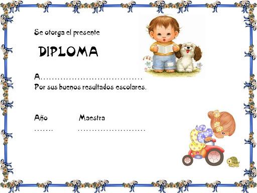 Diplomas de honor para niños - Imagui