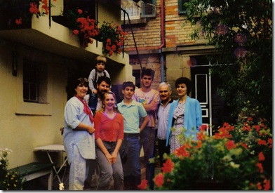 Kay Mannel - visiting the Leiss family in Kressbach Germany - 1990