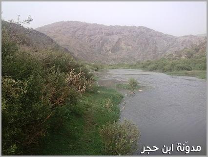 الماء داخل وادي الجنابين