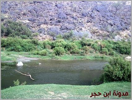 الماء في وادي الجنابين