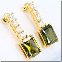 Baguette-Peridot-Earrings
