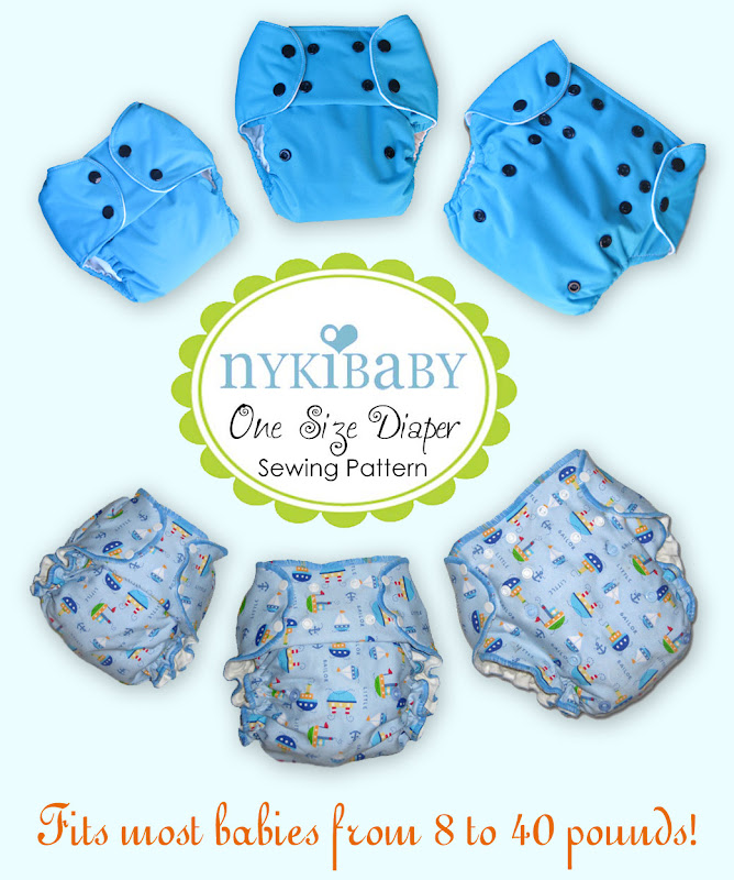 NykiBaby One Size Diaper- PDF Pattern