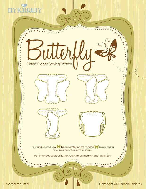 NykiBaby Butterfly Fitted Diaper- PDF Pattern