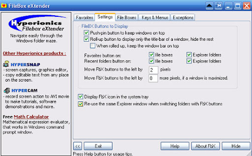 filebox settings