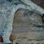 particolare di UOMO DANZANTE SU ALLIGATORE tecnica mista su carta 46,5 cm x 38 cm