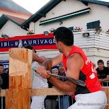 Journée sports basques avec les bûcherons
