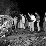 Maddi Hegi et le policier qui l'a interpellé, happés par un train, dans une  voiture de police (21 juin 1987)