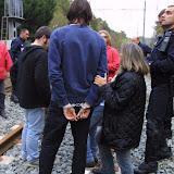 Biarritz novembre 2003 occupation voie ferrée