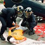 Bayonne- septembre 2000- pour attirer l'attention sur les risques courus par les familles des prisonniers
