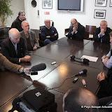 Un conseil d'administration au grand complet devant la presse