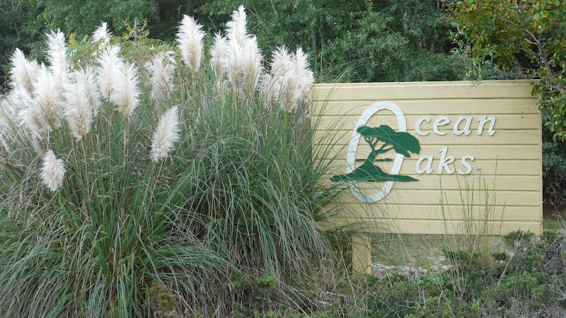 Entrance Sign -Ocean Oaks in Emerald Isle North Carolina an oceanside subdivision