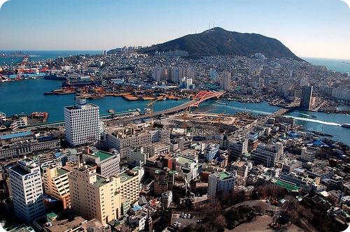 Busan şehri..