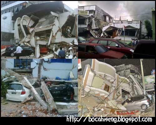 gambar foto kerusakan gempa padang sumbar