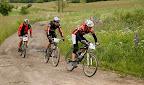 Perp wisi na kole zawodnika na bardzo fajnym rowerku