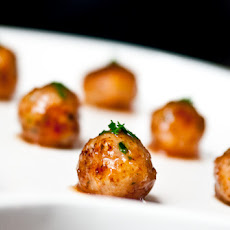 Lemon Tarragon Polpette with Tomato Glaze