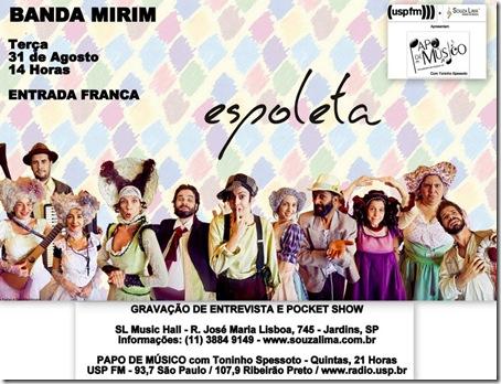 BANDA MIRIM - Papo de Músico - 31-8-2010
