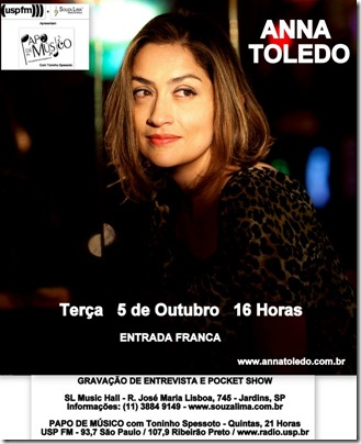 ANNA TOLEDO - Papo de Músico - 5-10-2010