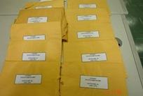 As pastas contendo documentos referentes a Operação Prato