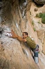 Escalando en Arico14