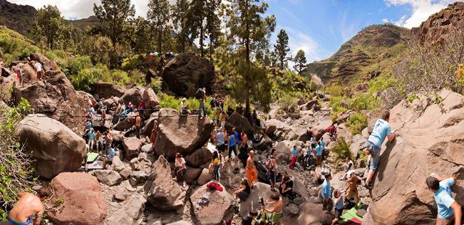 Panoramica Encuentro de bloque de Mogan, boulder Mogan, Gran Canaria Boulder 002