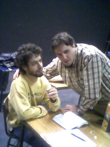Dani y Jesús en sus ensayos