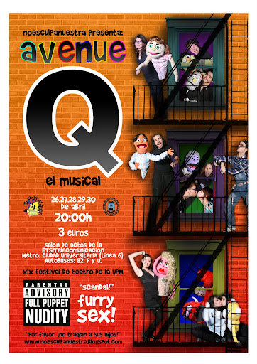 Cartel de 'Avenue Q'