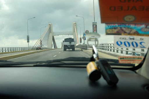 マクタンの橋とGPS