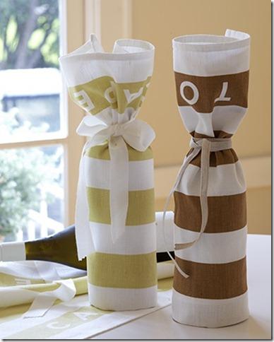 tea towel gift warp