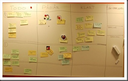 scrum team 1 scrumboard