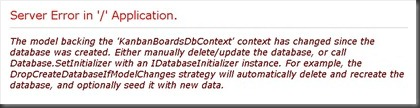 error message for model db conflict