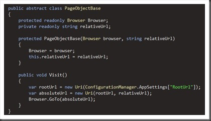 baseclass for page objects