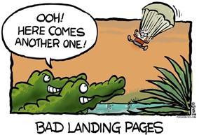Bad landing page!