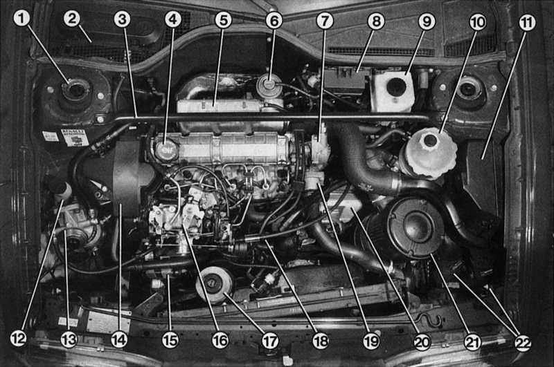 Renault Engine Diagram    1 9 L Diesel Engine Diagrams