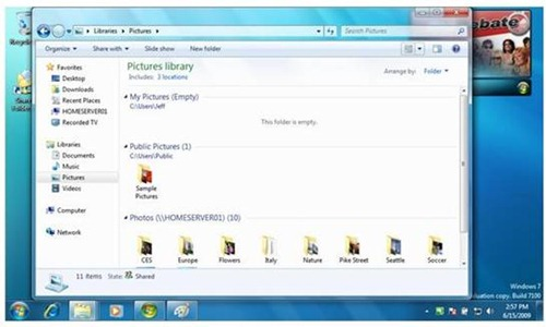 Windows 7 Library Support