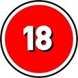 over 18 logo