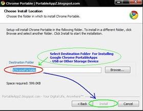 Google Chrome Portable Installer-Installing