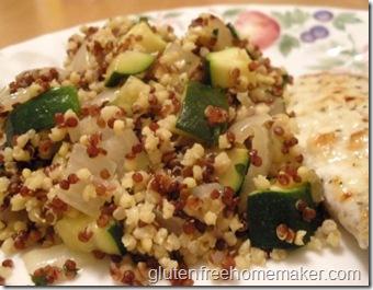 quinoa & millet pilaf
