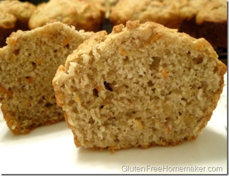 multi-grain carrot walnut muffin