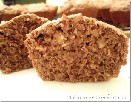chocolate coconut muffin